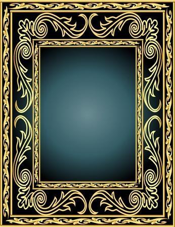 autumn leaf frame: marco de ilustraci�n de fondo con el oro vegetal (es) modelo