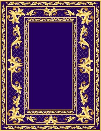 illustration background frame with vegetable gold(en) pattern Stock Vector - 11125953