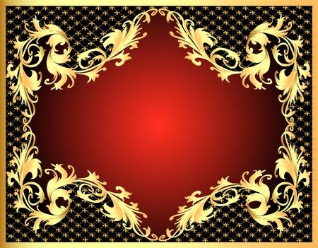 corona navidad: marco de ilustraci�n de fondo decorativo de oro (es) modelo con la red