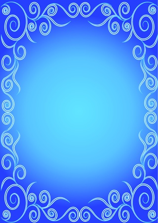illustration freezing pattern on glass for background  Vector