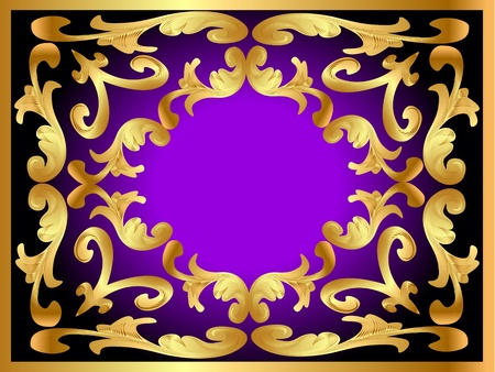 rococo: illustration background framewith gold(en) pattern Illustration