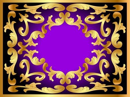illustration background framewith gold(en) pattern Vector