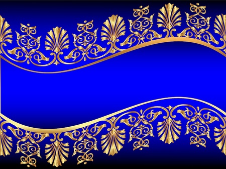 illustration frame background with gold(en) antique pattern Vector