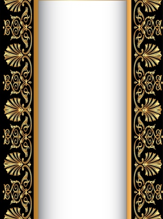 ornamental background: illustration old background with gold(en) antique pattern Illustration