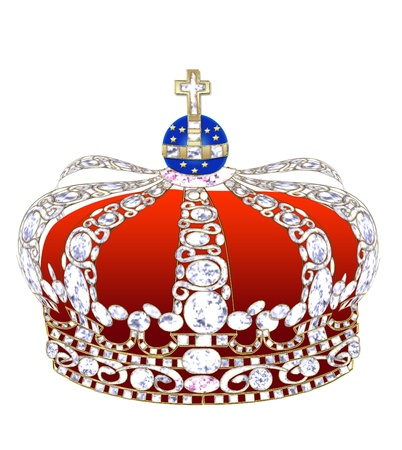 Illustration an imperial crown with brilliants on a black background. illustration
