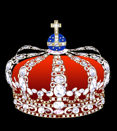 brilliants: Illustration an imperial crown with brilliants on a black background.