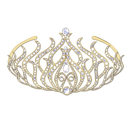 Woman decorative crown on a white background . photo