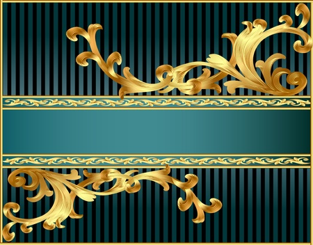 illustration striped background with pattern from gild Vector
