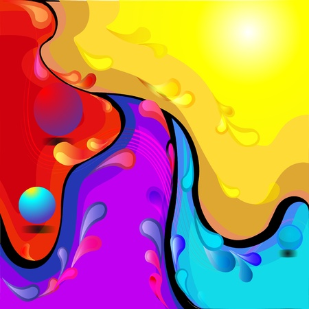 illustration background with color divorce and drop Vector