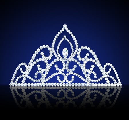 mariage diad�me illustration f�minin avec des diamants sur sombre Banque d'images