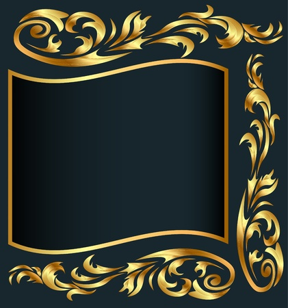 front page: illustration background with gold(en) pattern on gray