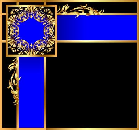 Illustration background with angular gold