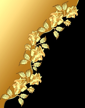 gold frame: illustration background with pattern gold(en) rose diagonally Illustration