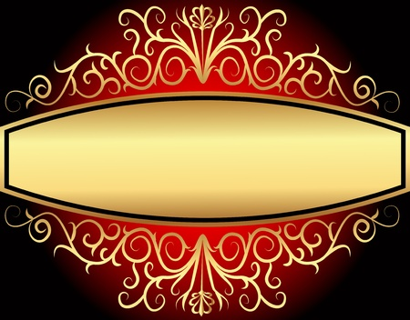illustration background with gold(en) vegetable tsarist pattern Vector