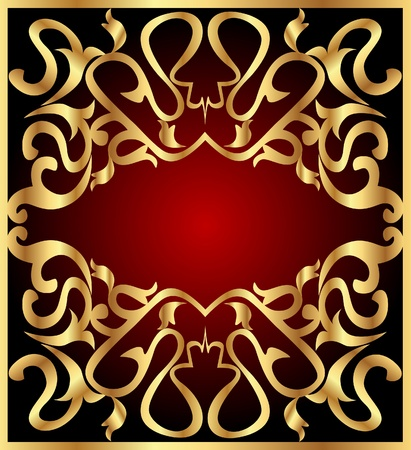illustration background frame with gold(en) east pattern Stock Vector - 12283191