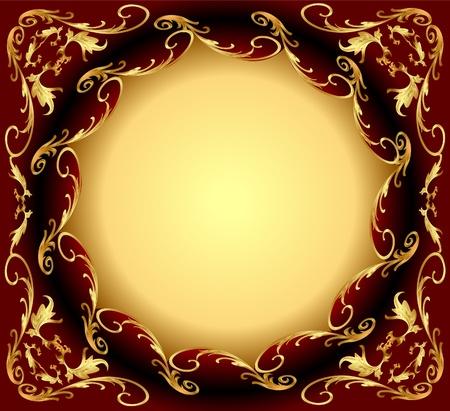 illustration background frame with gold(en) east pattern Illustration