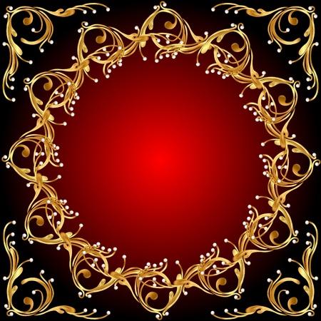 or mod�le illustration de fond sur fond rouge Illustration