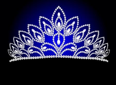 diadema: la ilustraci�n de la boda hermosa diadema de perlas femenina