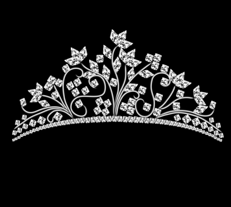귀한: 바위 결정 그림 왕관 여성 결혼 일러스트