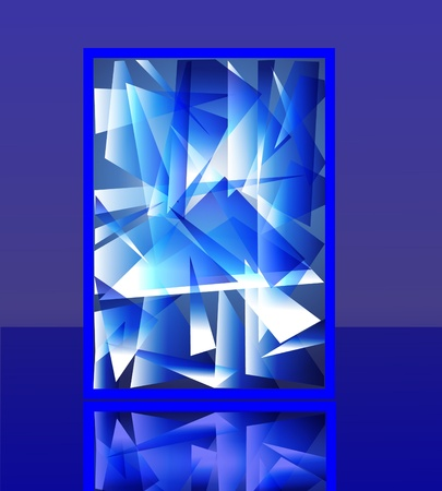 splinter: illustration background imitation splinter flow ice with reflection