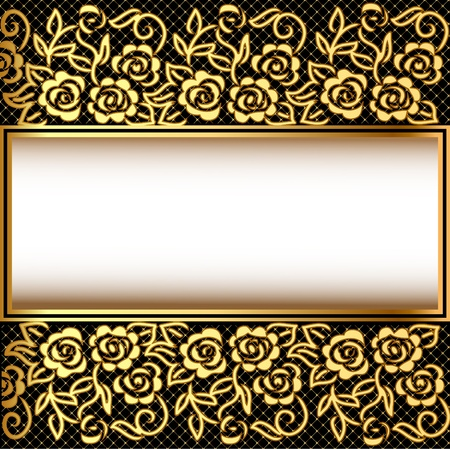 illustration background with gold(en) pattern and net Vector