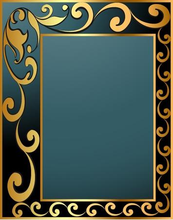 nobile: illustrazione etichetta verticale d'epoca con spirale in oro (en) modello