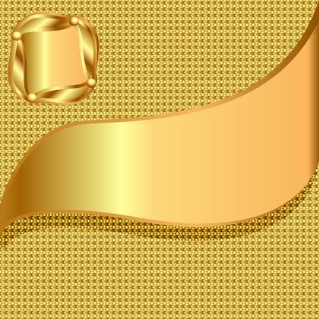 vecteur carte d'or avec la texture et le centre d'or Illustration