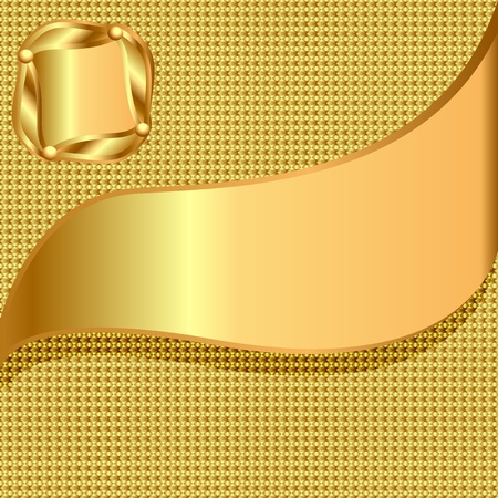 vector golden card with golden texture and center Vector