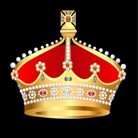 nobel: illustration gold(en) royal crown with pearl