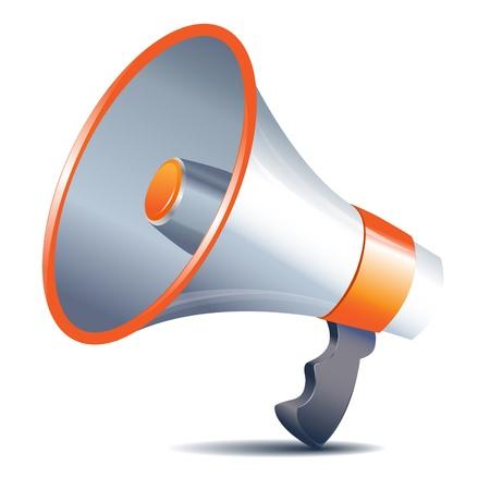 directive: Illustration megaphone loudspeaker on white background Illustration
