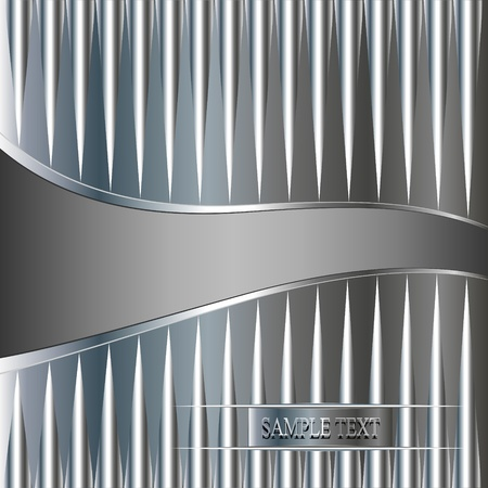 illustration abstract technology metallic background  with wave Vector