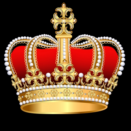 király: ábra cári arany korona gyöngyház és a minta