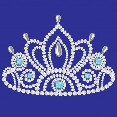 carnival costume: illustration corona diadem feminine wedding  we turn blue