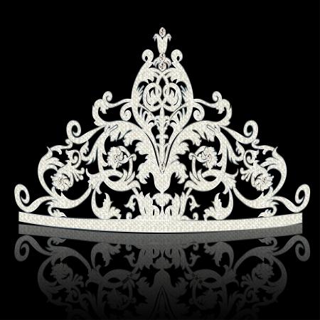rhinestone: illustration corona diadem feminine wedding with reflection