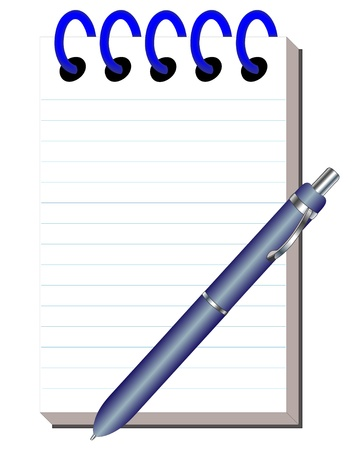 writing pad: illustration clean note pad with handle for writing