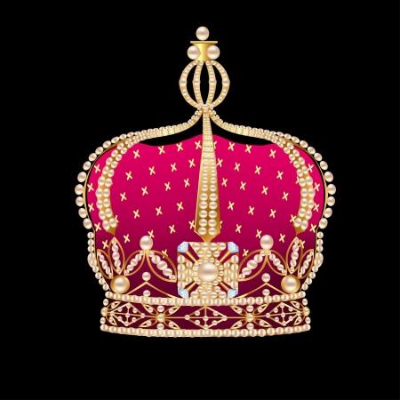 illustration royal gold on black background