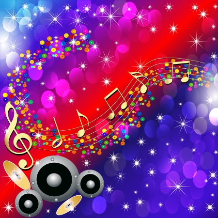 illustrations music background with speaker and note Vector