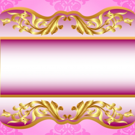 illustration background for invitation on holiday gold pattern