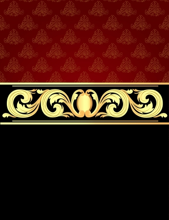 illustration a background with a gold vegetative ornament Stock Vector - 15559192