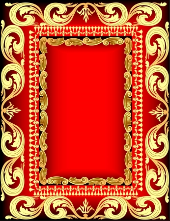 illustration background frame for message gold pattern Vector