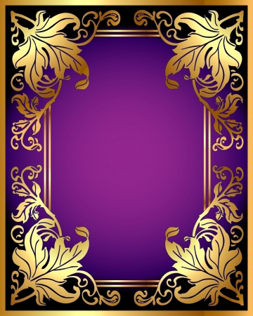 illustration background with gold(en) pattern from sheet Vector