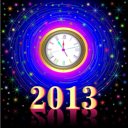 illustration of the high points on the eve of 2013 Stock Vector - 16034804