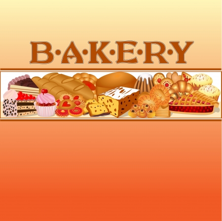 illustration of a set of baking bread for bakery Vector