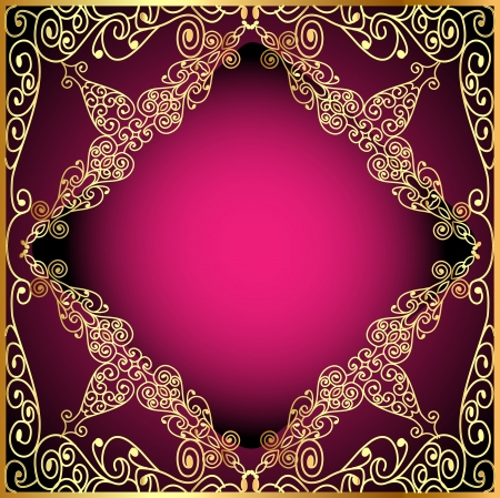 ornate gold frame: illustration a background a frame with a gold ornament