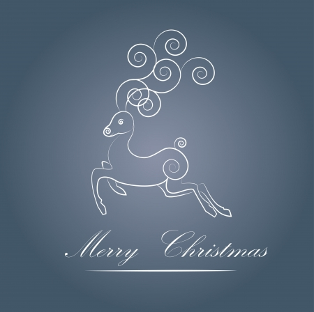 an illustration of the Christmas background with a pattern and a deer Stock Vector - 16566008