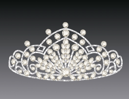 illustration tiara crown womens wedding on a grey background Vector