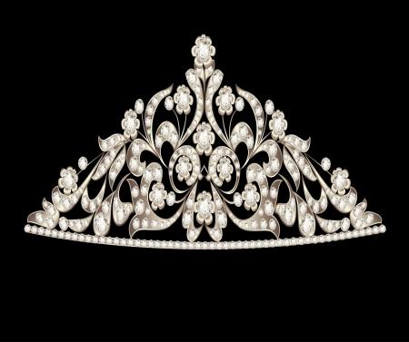 illustration tiara crown women's wedding precious stones Stock Vector - 17309263