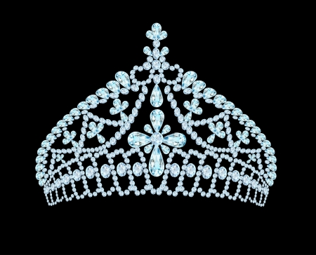 illustration feminine wedding tiara crown with light stone