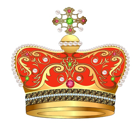 illustration of royal gold crown with jewels  Stock Vector - 17665672
