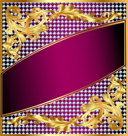 illustration background frame with gold ornaments and precious stones Stock Vector - 18080578